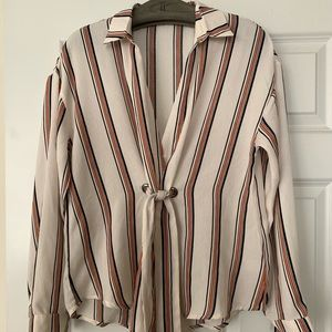 Farrow striped blouse